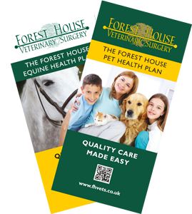 Download our pet and horse health plan leaflets